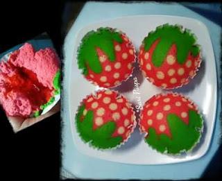 Resep Bolu Kukus Karakter Buah Strawberry