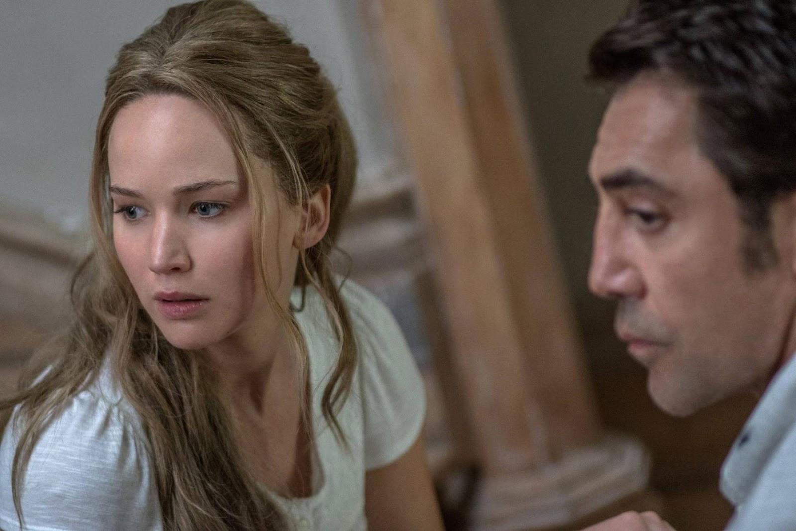 MADRE! - la pelicula de Darren Aronofsky - Jennifer Lawrence y Javier Bardem.