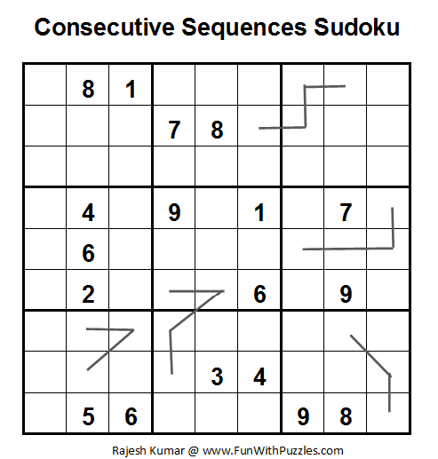 Consecutive Sequence Sudoku (Daily Sudoku League #51)