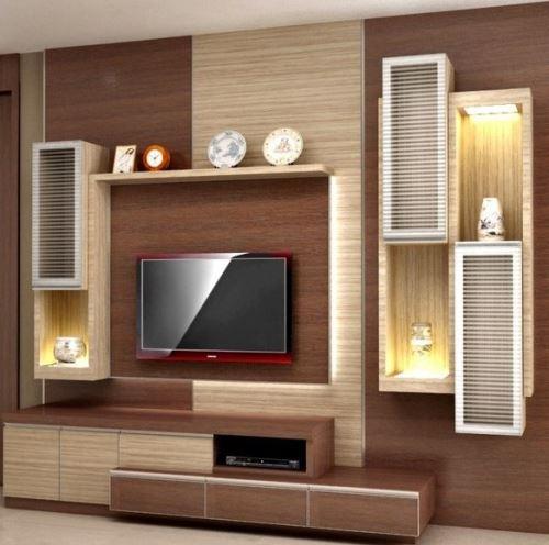 Desain Meja Tv Minimalis Modern untuk ruang keluarga