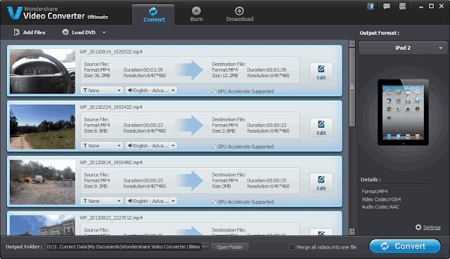 أقوى برنامج في تحويل وتحرير وتسجيل الفيديو Wondershare Video Converter Ultimate 10.2.1.158