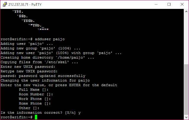 Membuat User dengan Hak Akses Root di VPS Debian