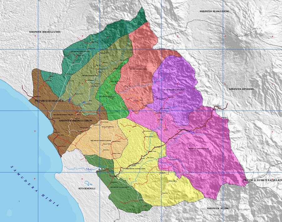 Peta Bengkulu Tengah