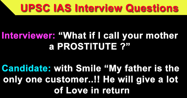 UPSC IAS toughest personal interview questions.
