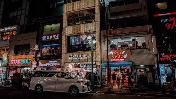 korea town tokyo shinjuku shin okubo japan