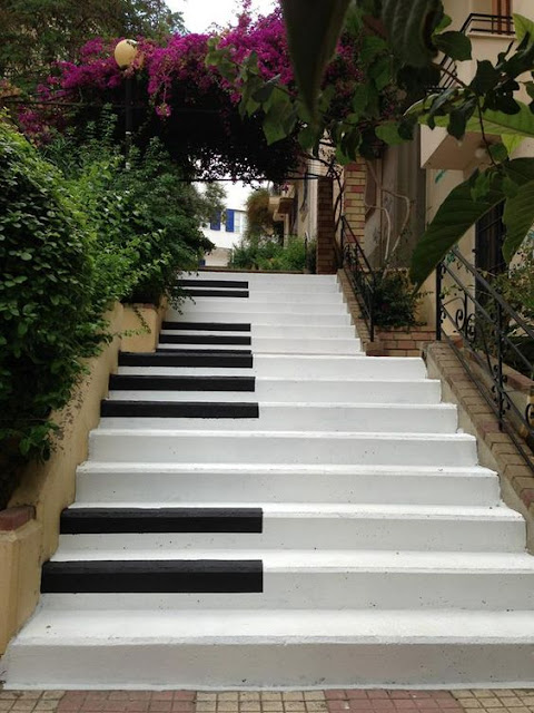 Stairs in Pagrati neighborhood, Athens.  Greece