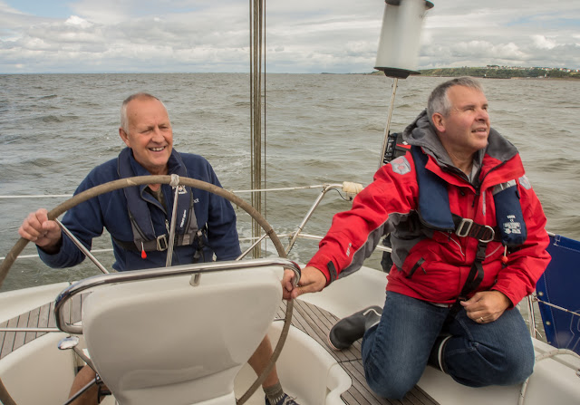 Photos of Phil and Mike on Solway Adventurer