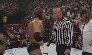WWE / WWF - Summerslam 1999 - Jesse Ventura, HHH, Chyna and Mankind