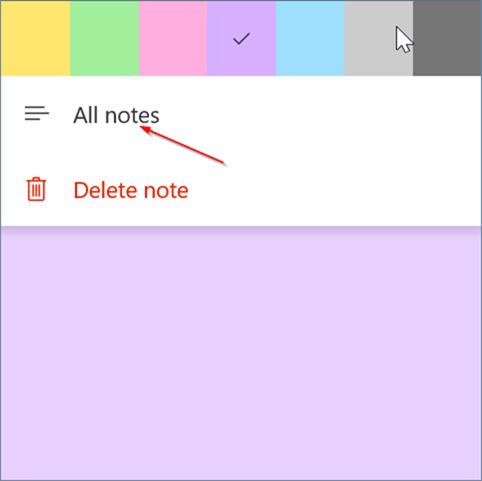 كيفية تسجيل الدخول و الخروج من Sticky Notes