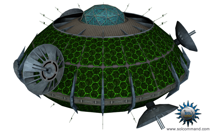 satellite, comm, communication, hub, alien, earth, terran, futuristic, sci fi, solcommand, 3d, free, download, low poly, textured, mesh, game ready, space, sensor, array, concept