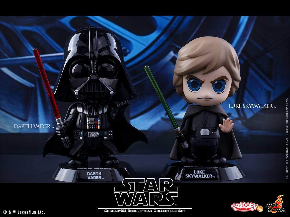 hot sale online d6eec c84c0 Star Wars  The Original Trilogy Cosbaby Vinyl Figures by Hot Toys - Star  Wars Return
