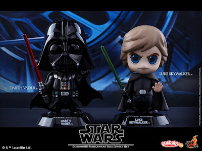 Star Wars: The Original Trilogy Cosbaby Vinyl Figures by Hot Toys - Star Wars Return of the Jedi Luke Skywalker and Darth Vader Cosbaby Set