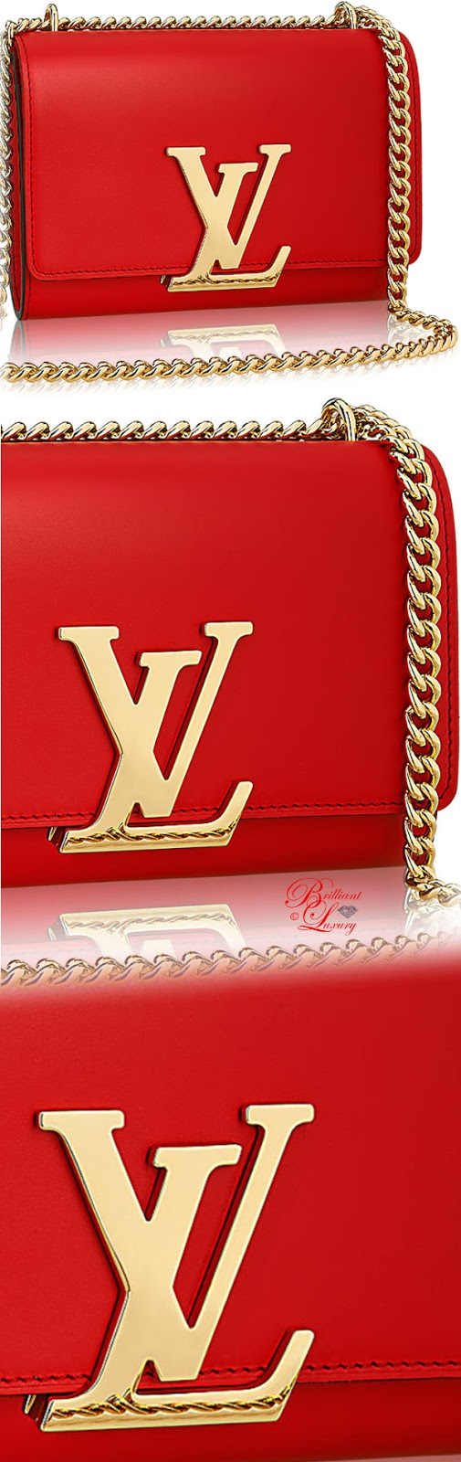 Brilliant Luxury ♦ Louis Vuitton chain Louise MM bag