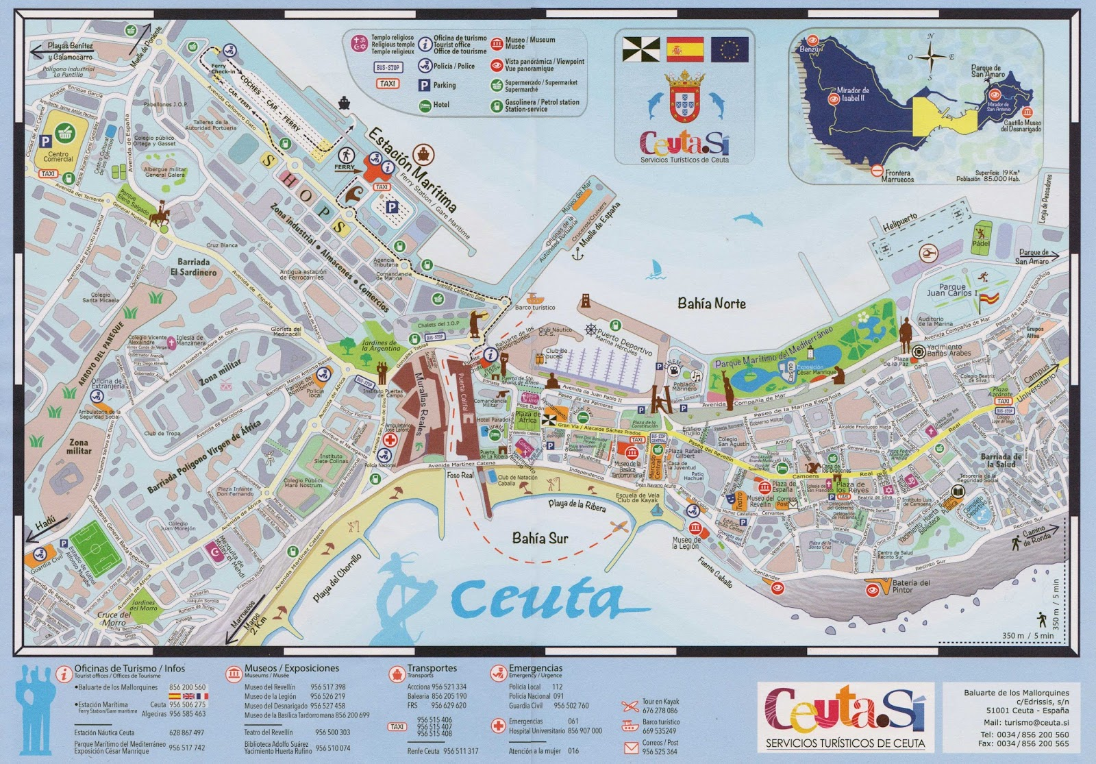 ceuta mapa Ceuta | Mapa y plano turistico | Conoceceuta ceuta mapa
