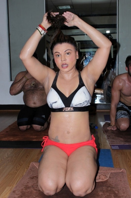 Rakhi Sawant Celebrating World Yoga International Day Pics