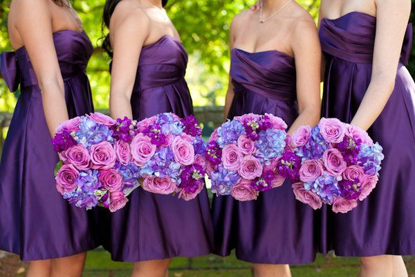 Purple Bridesmaid Dresses For Wedding
