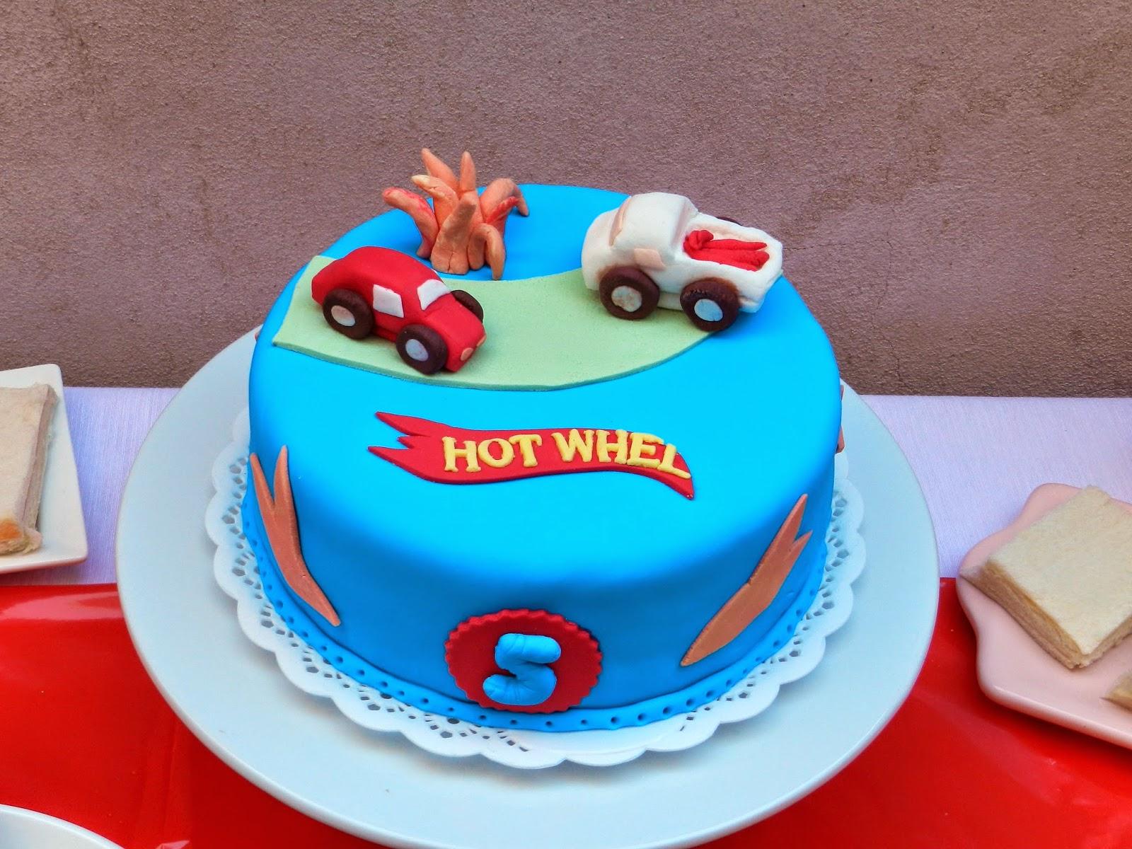 Frocca Pasteleria Torta Tartas Mesa Dulce Hot Wheels