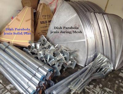 Parabola Dish Solid/Plat dan Mesh/Jaring