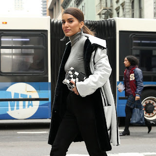 Blogger Camila Coelho Out At New York Fashion Week 2018