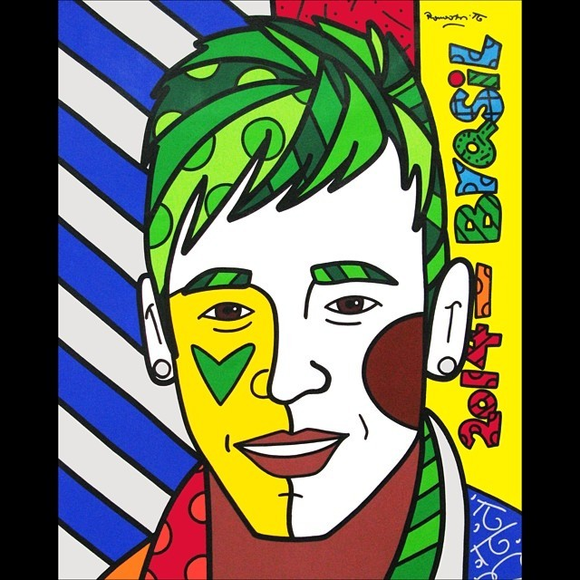 Neymar Jr. pintado por Romero Britto