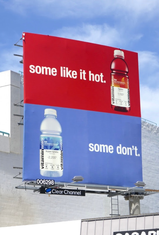 Vitaminwater Some like it hot billboard