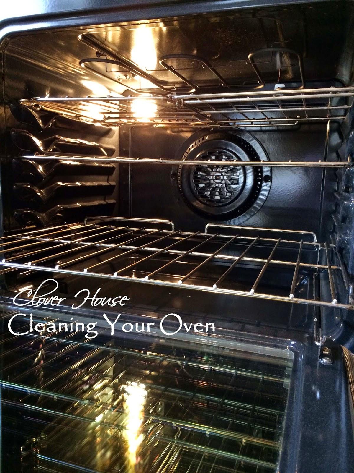 how to clean grease off oven door