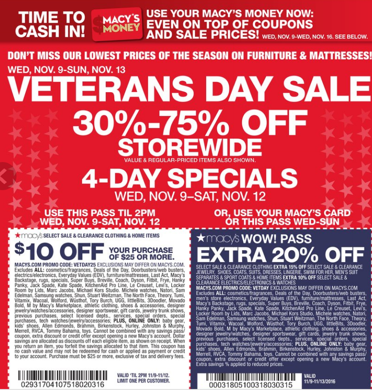 Macy's presidents day coupon 2018