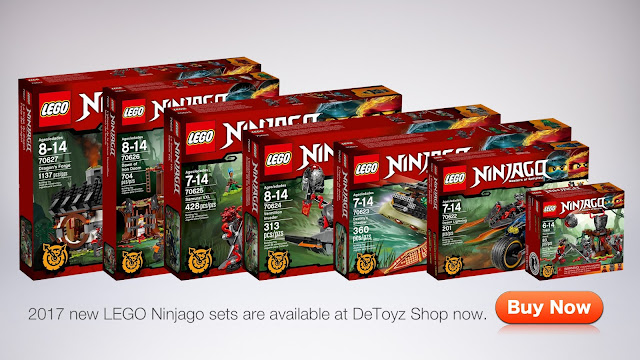 DeToyz Shop: New 2017 LEGO Ninjago Sets Stock arrive!