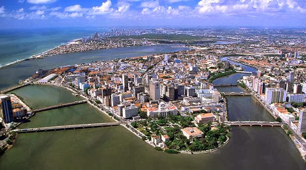 Panorámica de Recife en Brasil