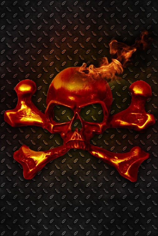 Flaming Skull & Crossbones Retina Display Wallpaper  iPhone Fan Site