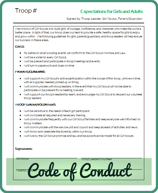 Code Of Conduct on Things That Start With Letter H