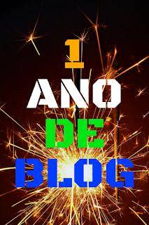 aniversário de 1 ano de blog