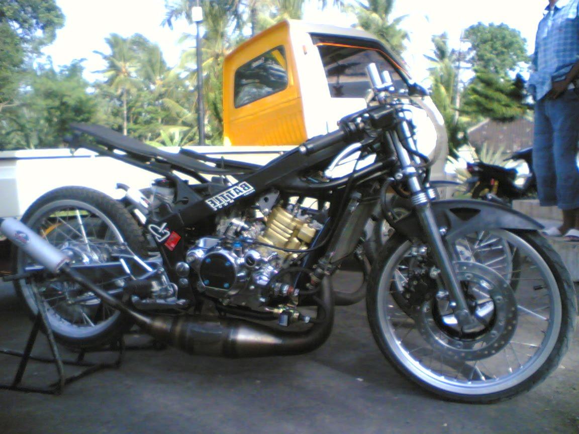 Black Kawasaki Ninja Drag Bike For Drag Bike Race Ly