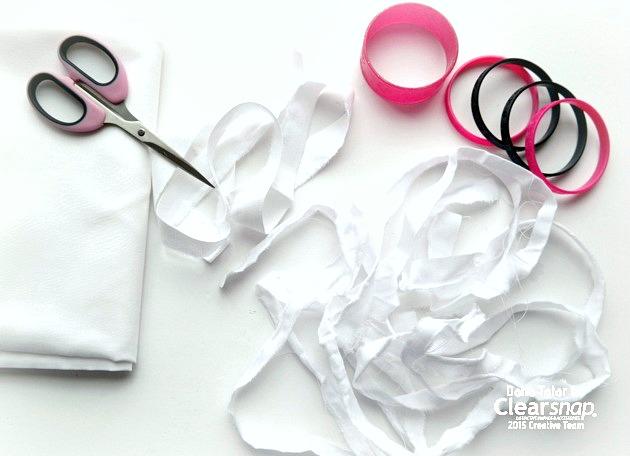 Preparing Muslin Frabric Strips for Tie-Dyeing with Izink by Dana Tatar