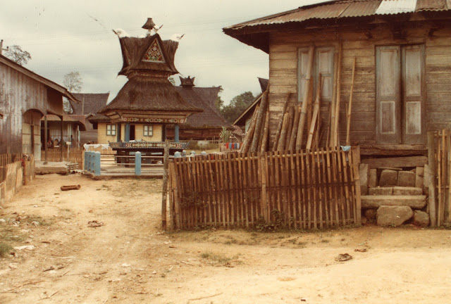 Batak village in north Sumatra, Indonesia in 1985