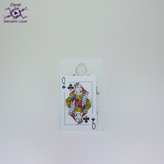 The Linestrider Tarot - Size comparison using a common playing card