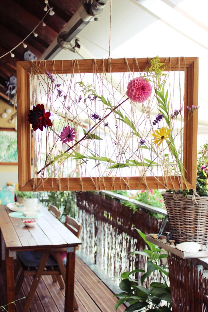 s\'Bastelkistle: {DIY} Transparenter Bilderrahmen mit Blumen zum ...