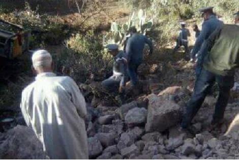 سقوط جرافة في منحدر يقتل سائقها بتارودانت