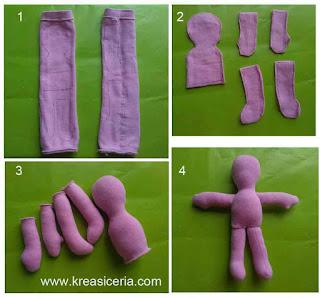 Cara mudah membuat boneka kaos kaki