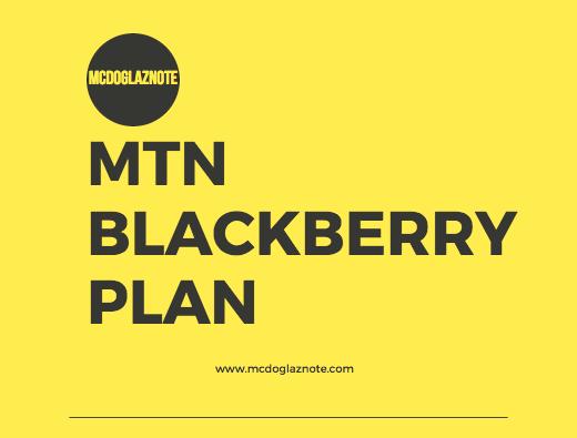 MTN Blackberry Plans