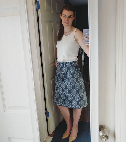 What I did on my Staycation: Custom Colette Ginger Skirt