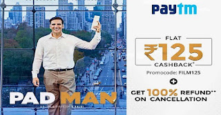 padman movie ticket offer paytm coupon