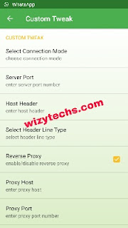 Tweakware settings