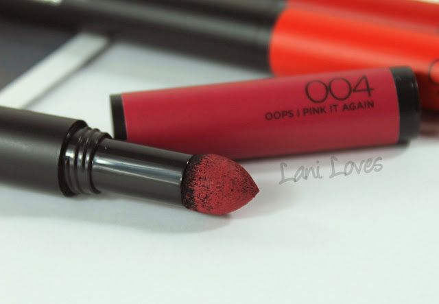 L'Oreal Infallible Matte FX - Oops I Pink It Again Swatches & Review
