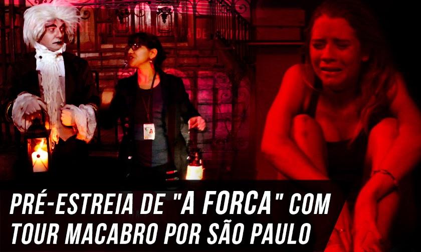 Pré-estreia de A FORCA (The Gallows) com direito a um tour macabro pela cidade de São Paulo com Rogério Cantoni e Daiane Mavian Silva