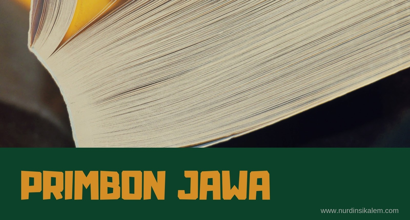 Bahasa Dalam Primbon Jawa