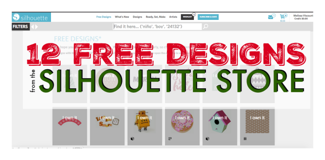 12 free silhouette designs from the silhouette design for Design store online