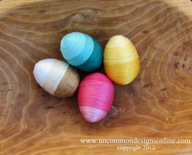 ombre thread wrapped eggs