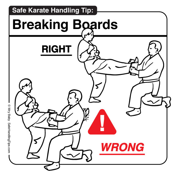 Karate Breaking Boards