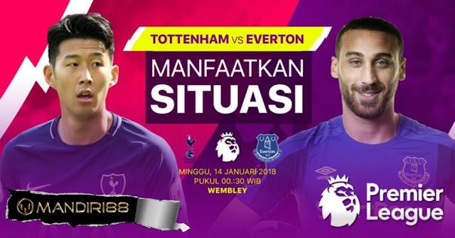 Prediksi Bola Tottenham Hotspur Vs Everton , Minggu 14 January 2018 Pukul 00.30 WIB